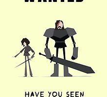 Arya & The hound - WANTED by Mellark90
