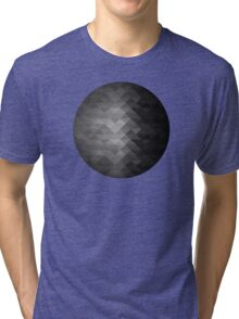 Grayscale triangle geometric squares Tri-blend T-Shirt