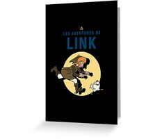 Les Aventures de Link Greeting Card