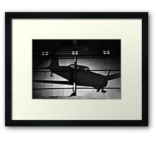 Memory of flight shadow of jet fighter wwii plane Framed Print