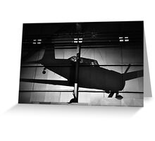 Memory of flight shadow of jet fighter wwii plane Greeting Card