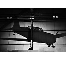 Memory of flight shadow of jet fighter wwii plane Photographic Print