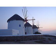 Windmills - Mykonos Photographic Print