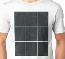 Pattern 028 Window Panes Black And Blue Unisex T-Shirt