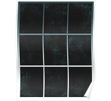 Pattern 028 Window Panes Black And Blue Poster