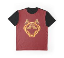 Entwined dragons on dark red Graphic T-Shirt