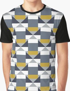 Geometric pattern with grey blocks Graphic T-Shirt