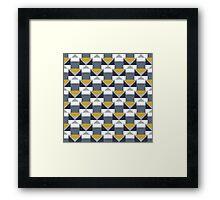 Geometric pattern with grey blocks Framed Print