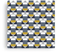 Geometric pattern with grey blocks Canvas Print