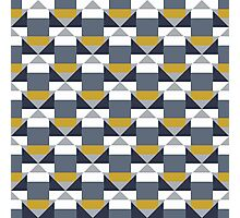 Geometric pattern with grey blocks Photographic Print