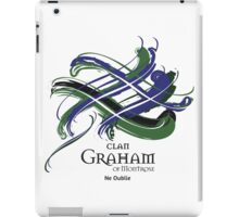 Clan Graham of Montrose - Prefer your gift on Black/White tell us at info@tangledtartan.com  iPad Case/Skin