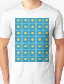 Pattern 029 Simple Blue Squares And yellow Dots Unisex T-Shirt