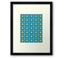 Pattern 029 Simple Blue Squares And yellow Dots Framed Print