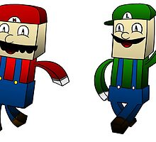 Minecraft: Mario and Luigi by DigiDagger