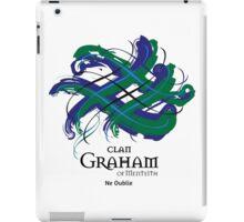 Clan Graham of Menteith - Prefer your gift on Black/White tell us at info@tangledtartan.com  iPad Case/Skin