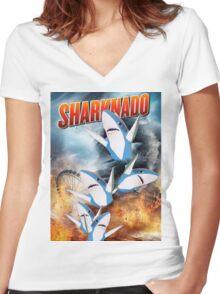 memenado Women's Fitted V-Neck T-Shirt