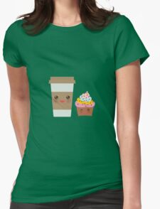Coffee take away Womens Fitted T-Shirt