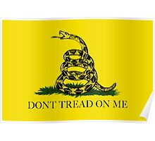 Gadsden Don't Tread On Me Flag - Authentic Version Poster