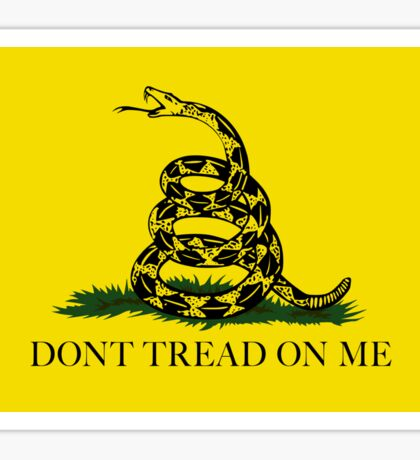 Gadsden Don't Tread On Me Flag - Authentic Version Sticker