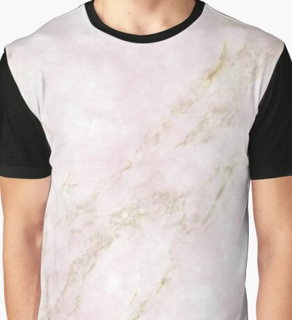 Rose Gold Marble Graphic T-Shirt