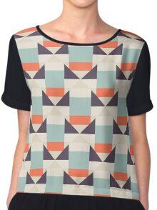 Geometric color blocked pattern Chiffon Top