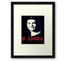 Che Sheldon Bazinga Framed Print