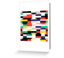 Abstract geometric color blocked pattern Greeting Card
