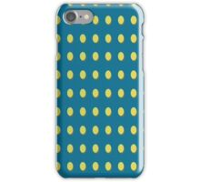 Pattern 030 Yellow Oval Dots Blue Background iPhone Case/Skin