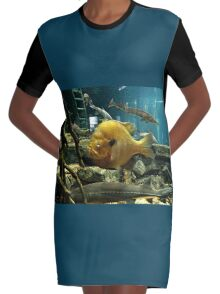 """""""May Not be a Trophy Large Mouth Bass, BUT I GOT YOUR ATTENTION!""""... prints and products Graphic T-Shirt Dress"""