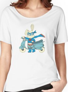 Be-All-You-Can-Be Bunny Rides in to Save the Day Women's Relaxed Fit T-Shirt
