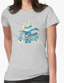 Be-All-You-Can-Be Bunny Rides in to Save the Day Womens Fitted T-Shirt
