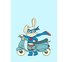 Be-All-You-Can-Be Bunny Rides in to Save the Day Photographic Print
