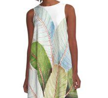 Banana Leaves| Tropical Leaves A-Line Dress
