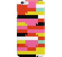 Abstract geometric color blocked pattern iPhone Case/Skin