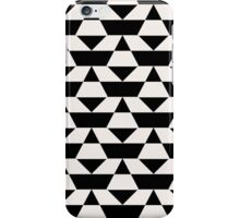 Black and white op art pattern iPhone Case/Skin