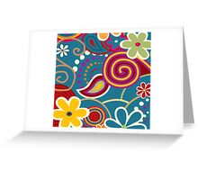 Flowers Art Abstract Greeting Card