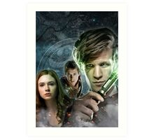 DOCTOR WHO : THE DOCTOR, AMY & RORY Art Print
