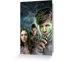 DOCTOR WHO : THE DOCTOR, AMY & RORY Greeting Card