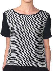 Black and white optical illusion Chiffon Top
