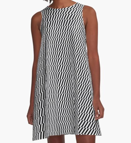 Black and white optical illusion A-Line Dress