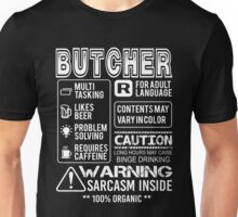 Butcher - Butcher Warning Unisex T-Shirt