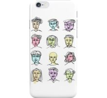 Ink and colour faces iPhone Case/Skin