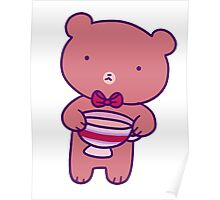 Tea Teddy Bear Poster