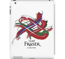 Clan Fraser - Prefer your gift on Black/White tell us at info@tangledtartan.com  iPad Case/Skin