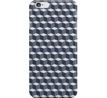 Cubes pattern in grey iPhone Case/Skin