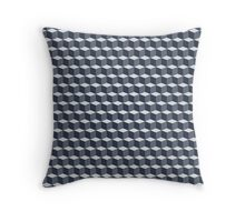 Cubes pattern in grey Throw Pillow