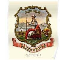 Historical Coat of Arms of California Poster