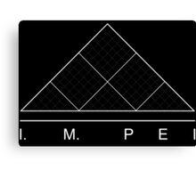I.M. Pei  Logo Canvas Print