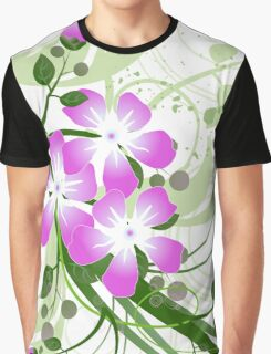 Flowers Art Abstract Graphic T-Shirt