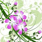 Flowers Art Abstract by T-ShirtsGifts